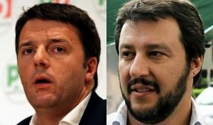 Sondaggio Pagnoncelli, Renzi crolla a 36% come Salvini che fa pieno di consensi