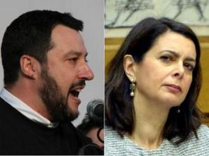 """Migranti, Salvini: """"Boldrini è da ricovero"""". La replica: """"Io non sono xenofoba"""""""