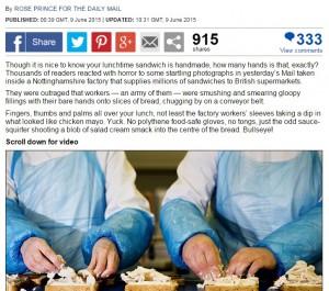 Sandwich confezionati: fatti da mani nude. Il ripieno? Altro che carne...