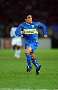 Tevez con la maglia del Boca nella foto LaPresse