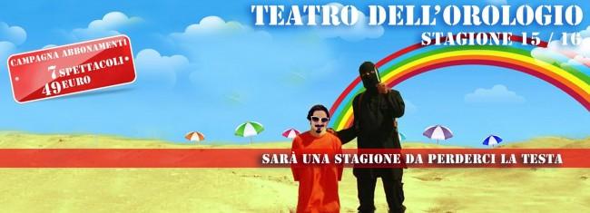 """Teatro dell'Orologio, pubblicità stagione 2015/2016 """"ispirata"""" a Isis FOTO"""