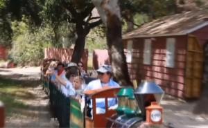 Gwen Stefani al parco con i figli: insieme in gita sul trenino