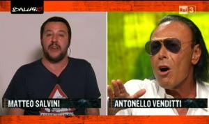 """Video YouTube, scontro Antonello Venditti-Matteo Salvini: """"Mattè nun t'allargà"""""""
