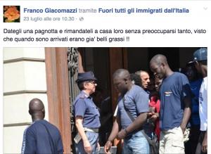 "Franco Giacomazzi (Lega): ""I profughi? Parassiti ed esseri nocivi"""