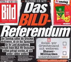 """Grecia: Bild lancia contro-referendum tedesco: """"Vogliamo pagare o no?"""""""