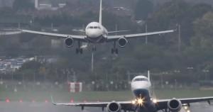 VIDEO YouTube - Aeroporto Birmingham, atterraggio e decollo sincronizzati