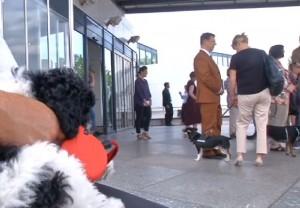 """VIDEO Berlino, al museo col cane: al via la mostra """"Gone to the dogs"""""""