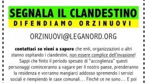 """Orzinuovi (Brescia): Lega organizza campagna """"segnala il profugo"""""""
