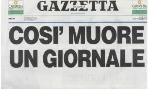 """Editoria: Corriere Mercantile, """"Così muore un giornale"""", s.o.s. in prima pagina"""