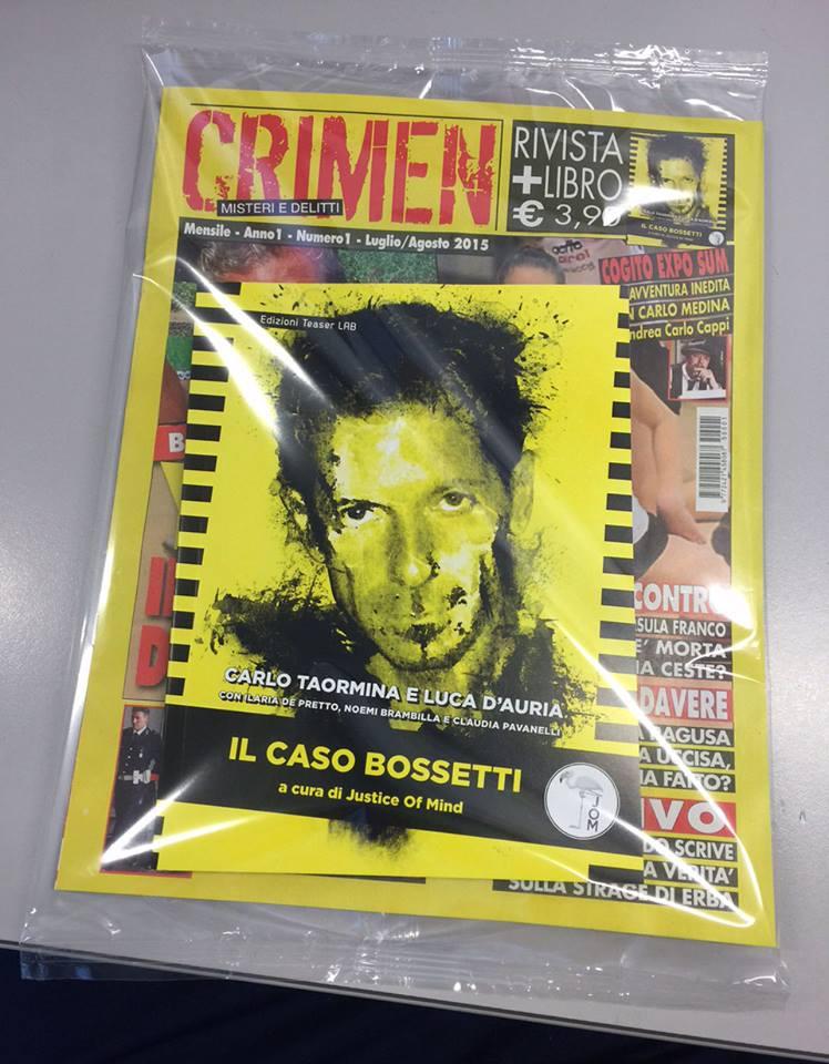 """""""Crimen"""": in edicola la rivista su crimini irrisolti di ieri e di oggi"""