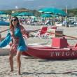 Daniela Santanchè, vacanze al Twiga: partite a racchettoni e bagni in mare11