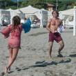Daniela Santanchè, vacanze al Twiga: partite a racchettoni e bagni in mare16