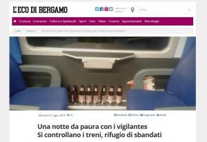 L'articolo dell'Eco di Bergamo