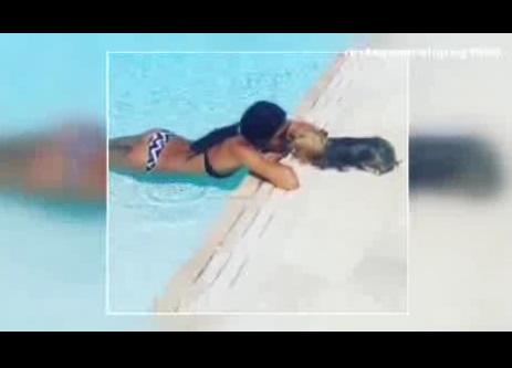 VIDEO - Elisabetta Gregoraci parla alla cagnolina Diva e lei la bacia