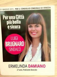 Il manifesto elettorale di Ermelinda Damiano