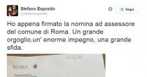 """Esposito inizia con un errore  di grammatica """"Un'enorme..."""""""