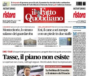 """Marco Travaglio sul Fatto Quotidiano: """"Fisco per fiasco"""""""