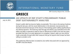"""""""Grecia? Datele 30 anni senza pagare interessi sul debito"""": Fmi all'Europa DOCUMENTO"""