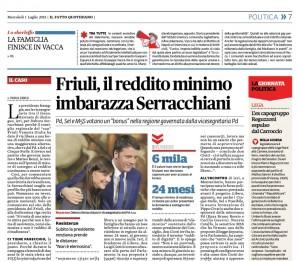 Friuli, il reddito minimo imbarazza Serracchiani