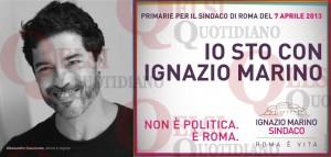 """#Romasonoio. Quando Alessandro Gassman faceva il tifo e twittava """"Daje Marino"""""""