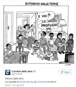 Giannelli corriere della sera vignetta ritorno dalle for Corriere della sera casa