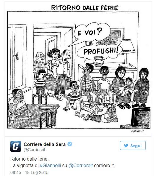Giannelli corriere della sera vignetta ritorno dalle for Corriere della casa
