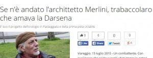 Gianni Merlini morto: Carnevale di Viareggio in lutto