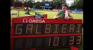 Atletica: Giovanni Galbieri medaglia d'oro 100 metri Europei Under 23 a Tallinn