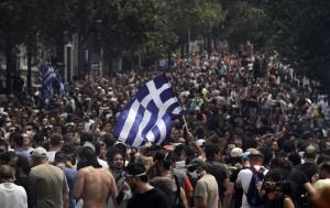 Manifestazione anti-crisi ad Atene