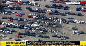 VIDEO YouTube - Gran Bretagna, jet decollato da Milano precipita: 4 morti