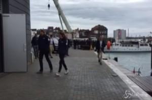 Kate Middleton e William in tuta blu navy all'America's Cup di Portsmouth