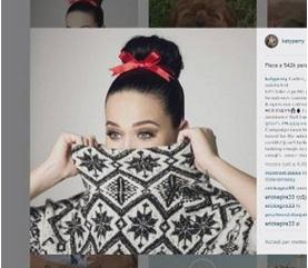 Katy Perry volto della campagna Natale 2015 per H&M