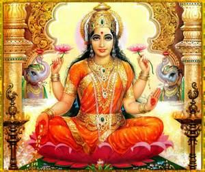 Un'immagine della dea Lakshmi