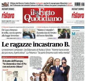 """Marco Travaglio sul Fatto Quotidiano: """"Via via la democrazia"""""""