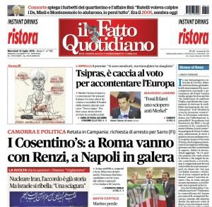 """Marco Travaglio sul Fatto Quotidiano: """"House of Renz"""""""