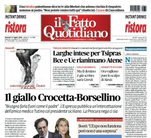 """Marco Travaglio sul Fatto Quotidiano: """"Doppiomatteismo"""""""