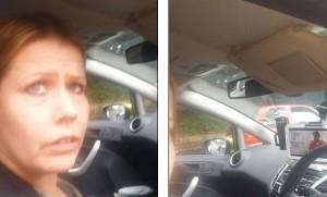 Guarda Masterchef sul tablet mentre guida. Un'altro automobilista la filma