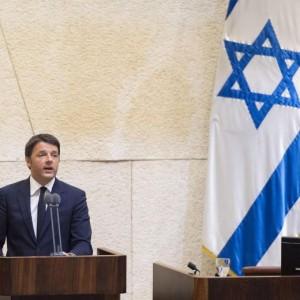 """Matteo Renzi parla in Israele: """"Vostra sicurezza è anche la nostra"""""""