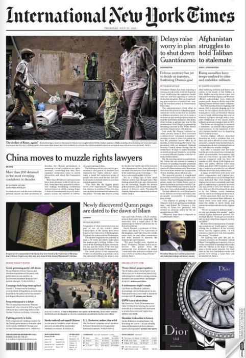 New York Times: Roma e il suo degrado in prima pagina FOTO