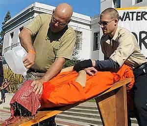 La tortura del waterboarding