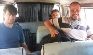 I tre giornalisti rapiti
