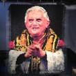 Ritratto di papa Ratzinger fatto con 17mila preservativi esposto a Milwuakee