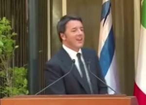 """Matteo Renzi sbaglia pronuncia sul David di Michelangelo: """"Devid"""""""