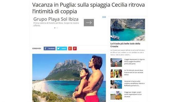 Cecilia Rodriguez e Francesco Monte usati per uno spot vacanze ma...