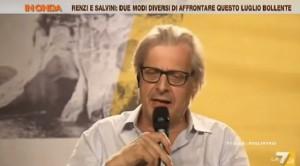 """VIDEO YouTube Vittorio Sgarbi: """"Verdini-Alfano scoregge fritte"""". E Francesca Barra..."""