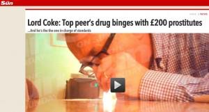 Scandalo sesso e droga in Inghilterra, Lord John Sewel inchiodato da video