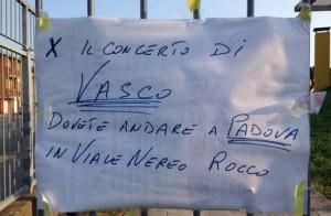 Vasco Rossi, concerto a Padova ma il navigatore manda i fan...