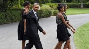 Obama e figlie a Central Park