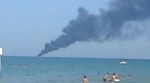 Yacht Larissa affonda dopo incendio al largo tra Giulianova e Tortoreto