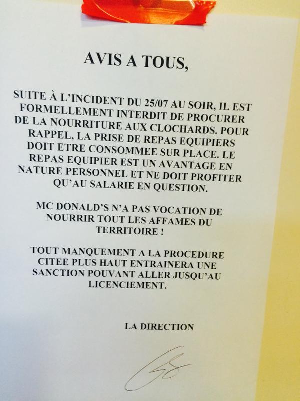 McDonald's, niente cibo a clochard, critiche in Francia